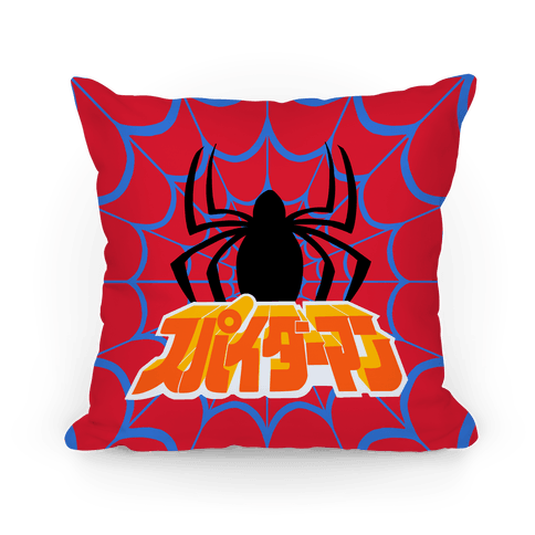 Japanese Spider Pillow Pillow