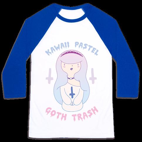 Kawaii Pastel Goth Trash Baseball Tee