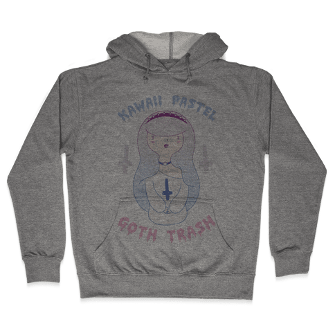 Kawaii Pastel Goth Trash Hooded Sweatshirt