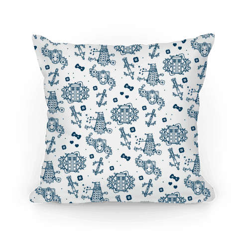 Doctor Who Pattern Pillow Pillow