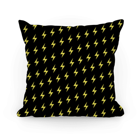 Hufflepuff House Lightning Bolt Pattern Pillow