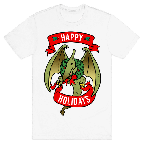 Christmas Pterodactyl (Community) Mens T-Shirt