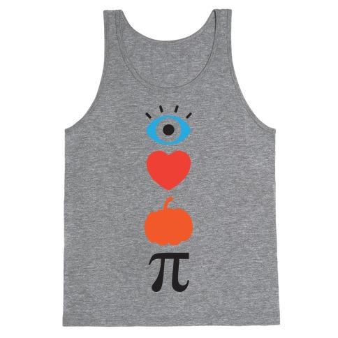Eye Heart Pumpkin Pi (Tank) Tank Top