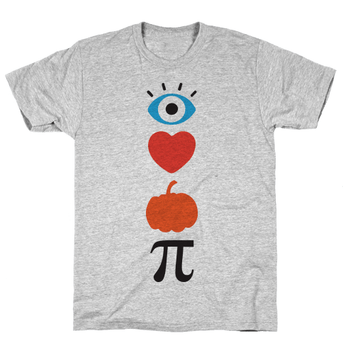 Eye Heart Pumpkin Pi (Tank) Mens T-Shirt