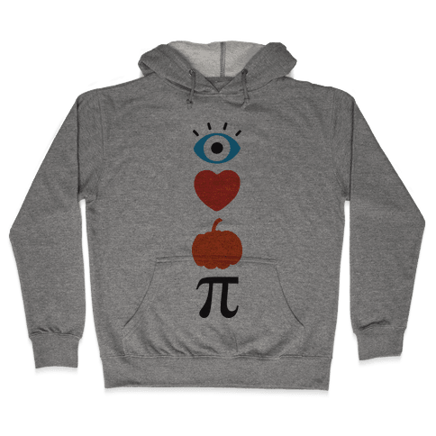 Eye Heart Pumpkin Pi (Tank) Hooded Sweatshirt