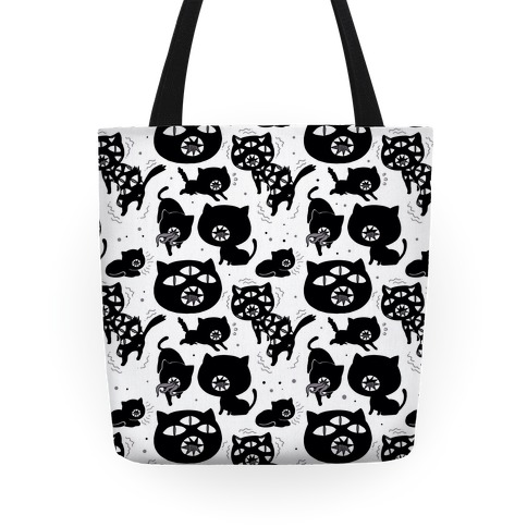 Kuro Cat Pattern Tote