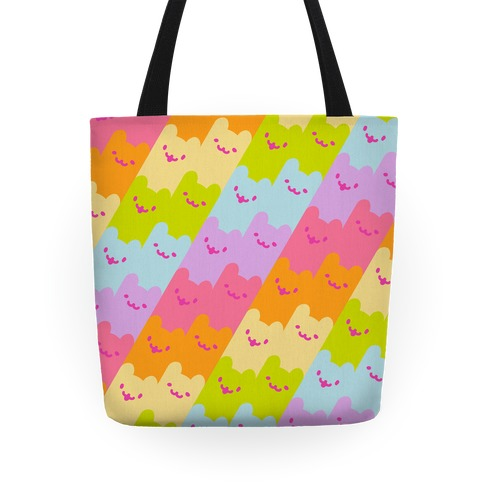 Pastel Rainbow Cats Tote