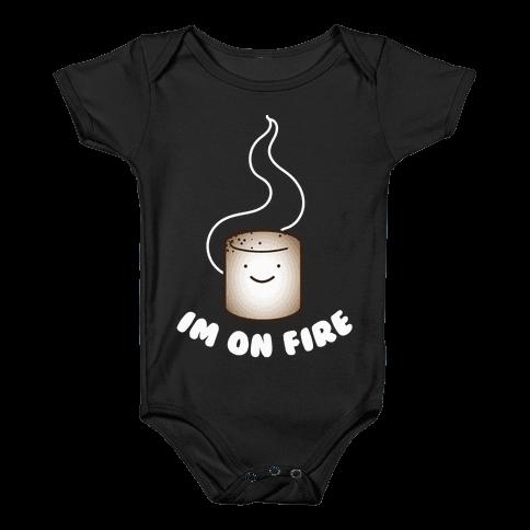 Im on Fire Baby Onesy