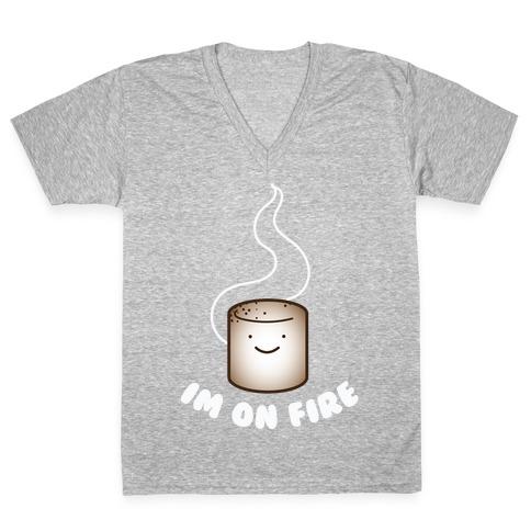 Im on Fire V-Neck Tee Shirt
