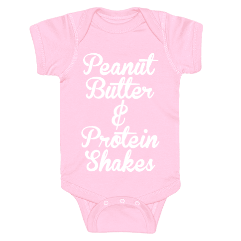 Peanut Butter & Protein Shakes Baby Onesy