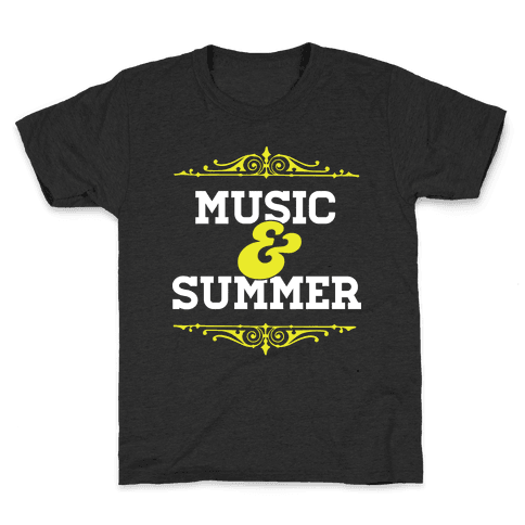 Music & Summer Kids T-Shirt