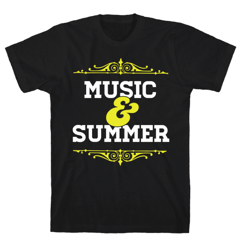 Music & Summer Mens T-Shirt