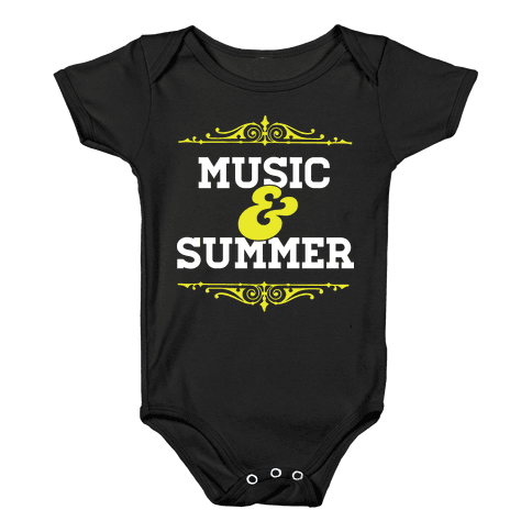 Music & Summer Baby Onesy