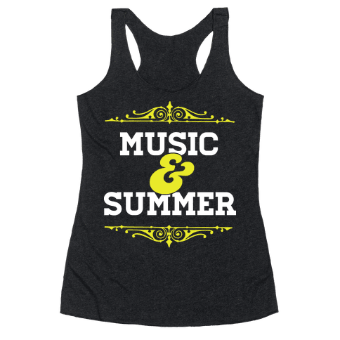 Music & Summer Racerback Tank Top