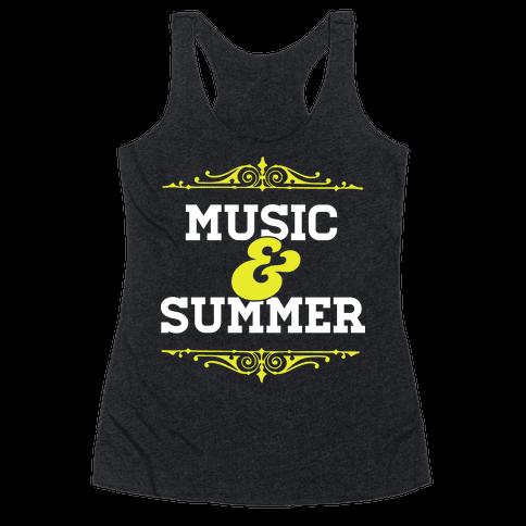 Music & Summer Racerback Tank Top