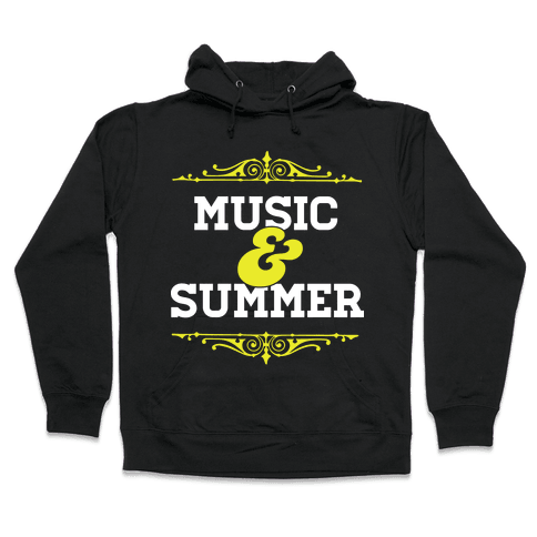 Music & Summer Hooded Sweatshirt