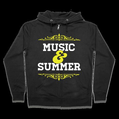 Music & Summer Zip Hoodie