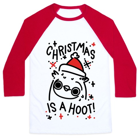 Christmas Is A Hoot Baseball Tee