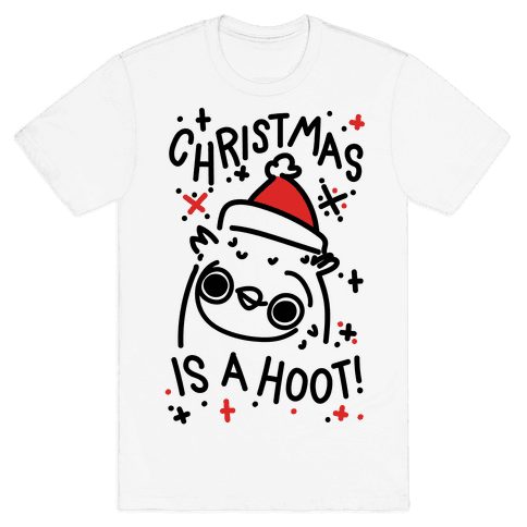 Christmas Is A Hoot Mens T-Shirt