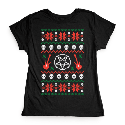 Ugly Sweater Heavy Metal Womens T-Shirt
