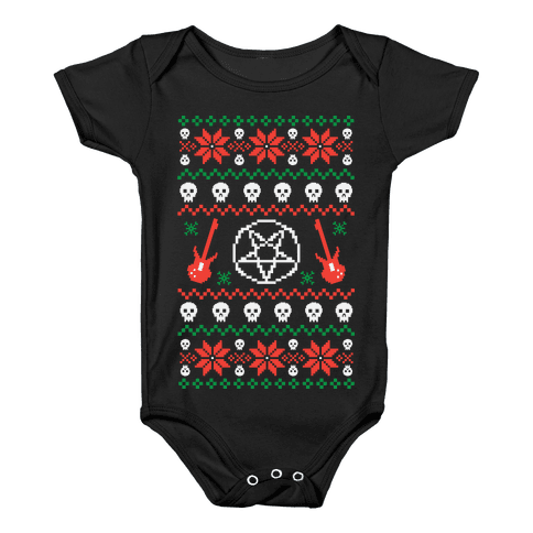 Ugly Sweater Heavy Metal Baby Onesy