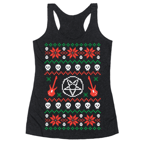 Heavy Metal Christmas Sweaters Racerback Tank Tops Lookhuman