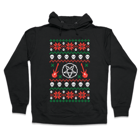 Ugly Sweater Heavy Metal Hooded Sweatshirt