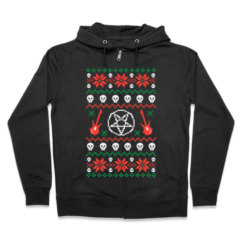 Ugly Sweater Heavy Metal Zip Hoodie