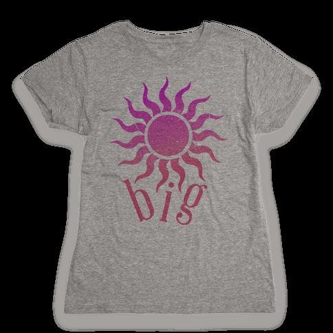 Sun and Moon (sun) Womens T-Shirt