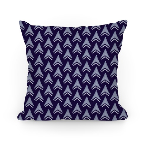 Navy Arrow Pattern Pillow