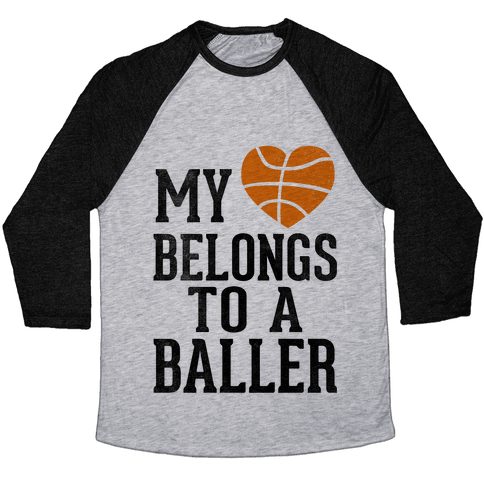 My Heart Belongs To A Baller (Baseball Tee) Baseball Tee