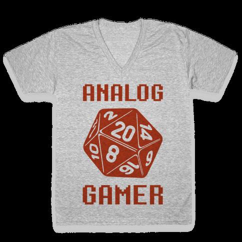 Analog Gamer V-Neck Tee Shirt