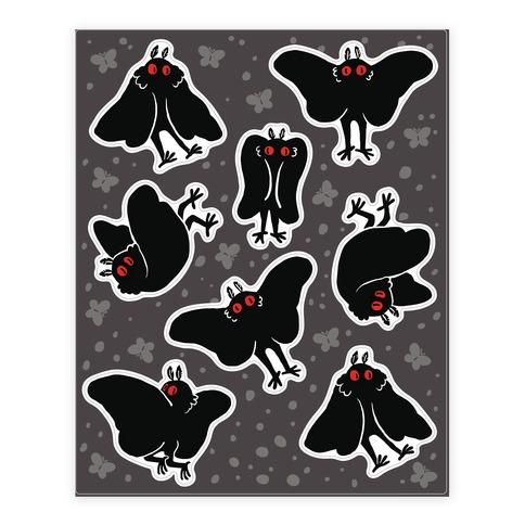 Cute Mothman  Sticker/Decal Sheet