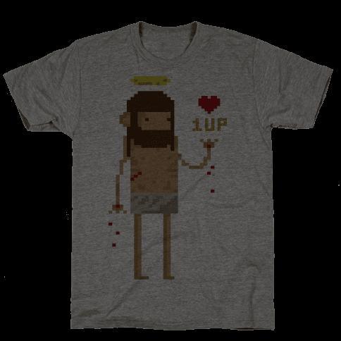 Pixel Jesus Mens T-Shirt
