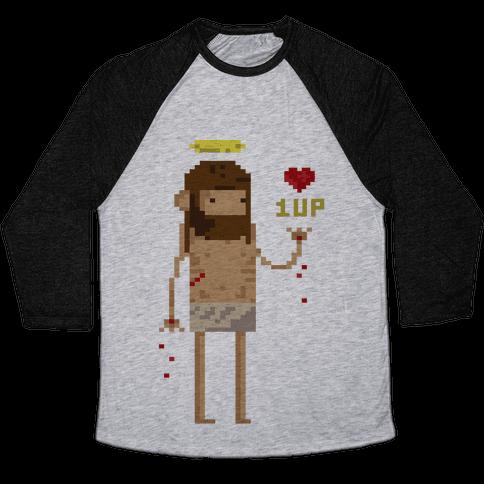 Pixel Jesus Baseball Tee