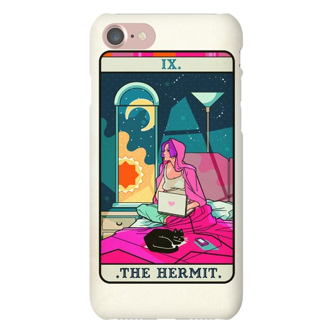 Hermit Tarot Card Phone Case