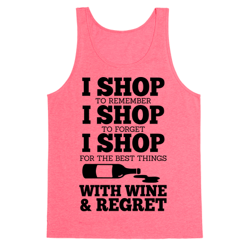 Shop With Wine Tank Top