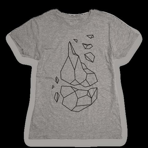 Broken Quartz Mountain Womens T-Shirt