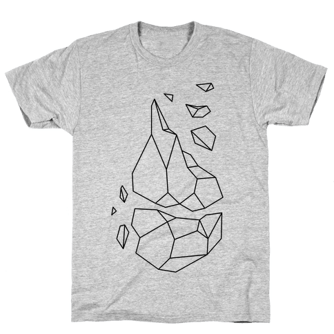 Broken Quartz Mountain Mens T-Shirt