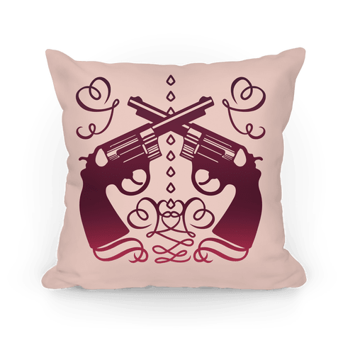 Western Pistol Pillow (Rose) Pillow