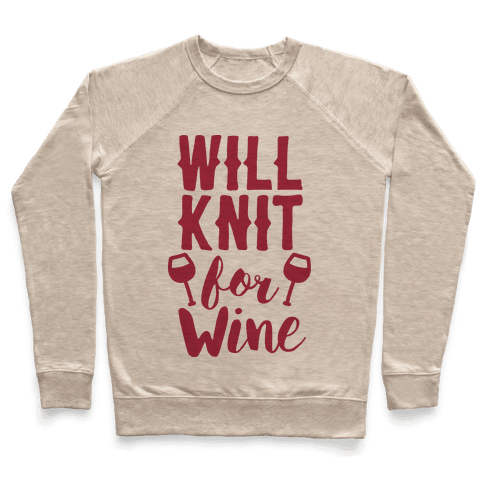 Will Knit For Wine Pullover