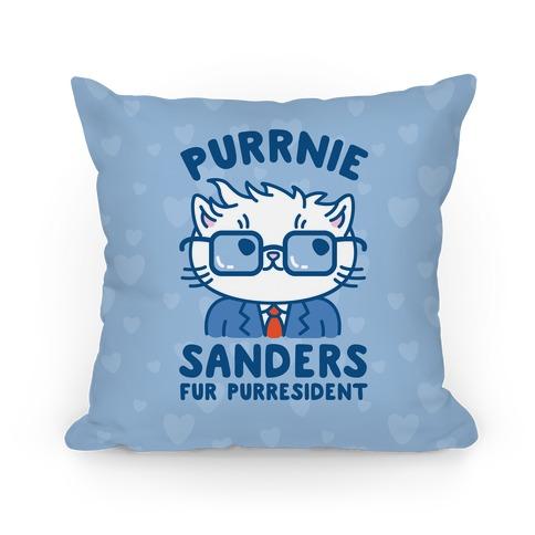 Purrnie Sanders Fur Purresident Pillow