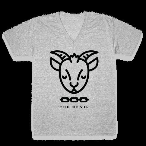 The Devil Tarot V-Neck Tee Shirt