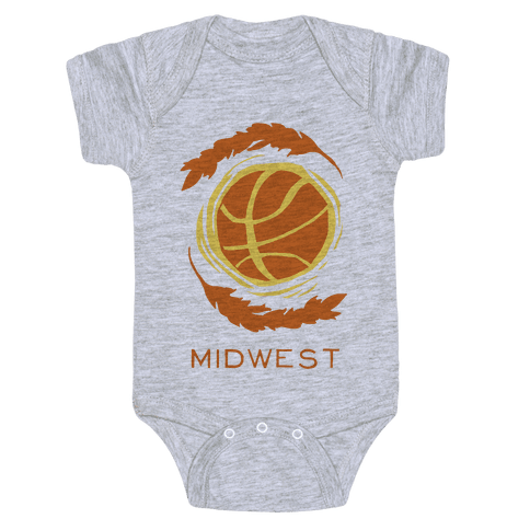 Midwest Basketball Baby Onesy