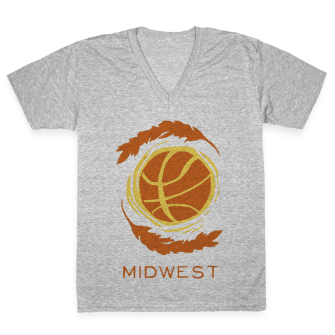 Midwest Basketball V-Neck Tee Shirt