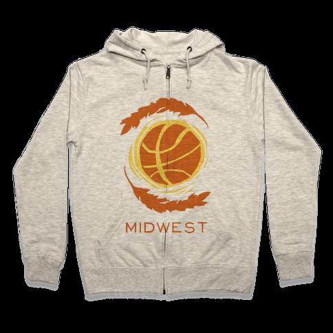 Midwest Basketball Zip Hoodie