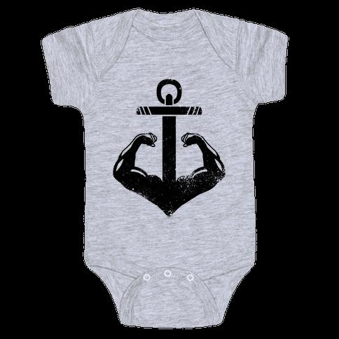 Swole Anchor Baby Onesy