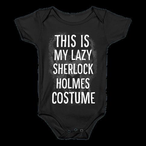 Lazy Sherlock Holmes Costume Baby Onesy