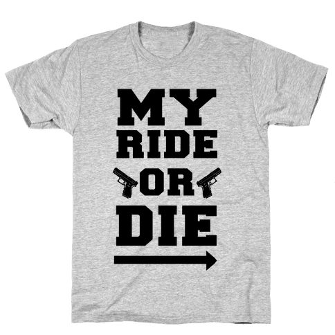 My Ride or Die (Neon Green) Mens T-Shirt