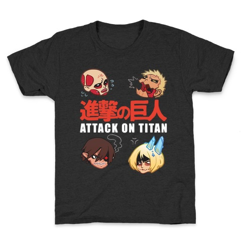 Attack On Titan Heads Kids T-Shirt
